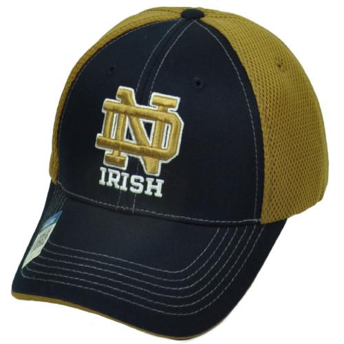 ed4ff9dd689b3 NCAA Notre Dame Fighting Irish Navy Blue Hat Cap Mesh Snapback Curved Bill  Navy