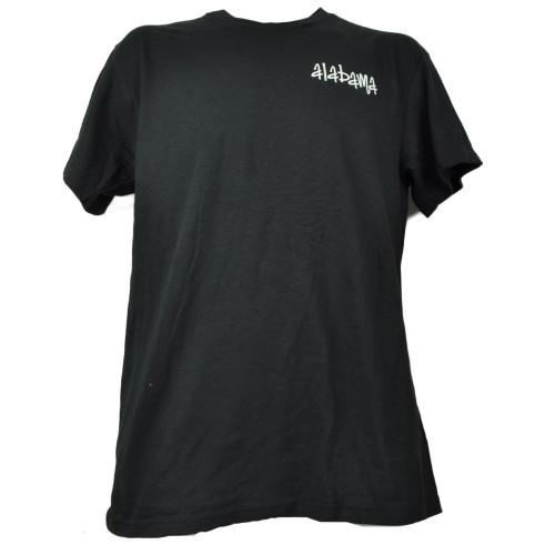 Alabama AL State Mens Black Tshirt Tee Short Sleeve Crew Neck Paisley Pattern