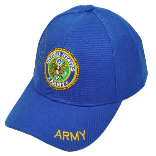 U.S United States Army Seal Military Armed Forces Adjustable Hat Cap Royal