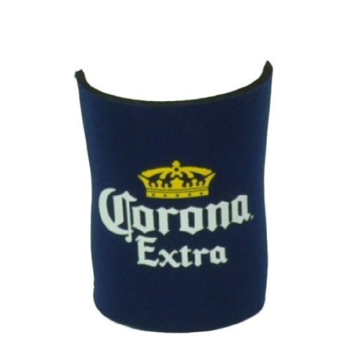 Corona Extra 12oz Half Coozies Bottle Coolers Beer Slip Cerveza Coolies Navy