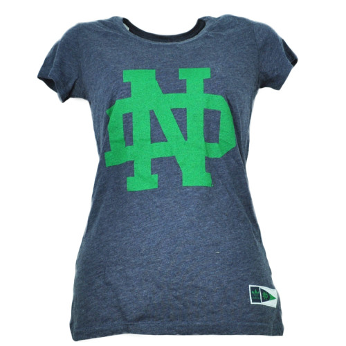 NCAA Adidas Notre Dame Fighting Irish Navy Blue Small Womens Ladies Tshirt Tee