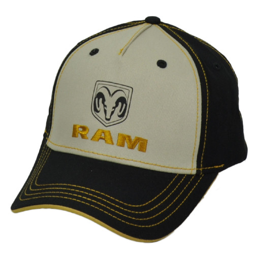 Ram Trucks Division Truck Pick Up Automobile Brand Curved Bill Hat Cap Black