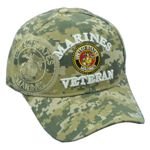 U.S United States Marines Veteran Digital Camouflage Camo Adjustable Hat Cap