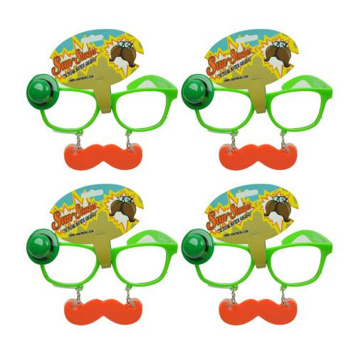 Sun Staches Green St Patricks Day Saint Pattys Lucky Mustache Glasses Set of 4
