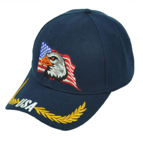 United States USA Flag Country Eagle Hat Cap Adjustable Curved Bill Pride Navy