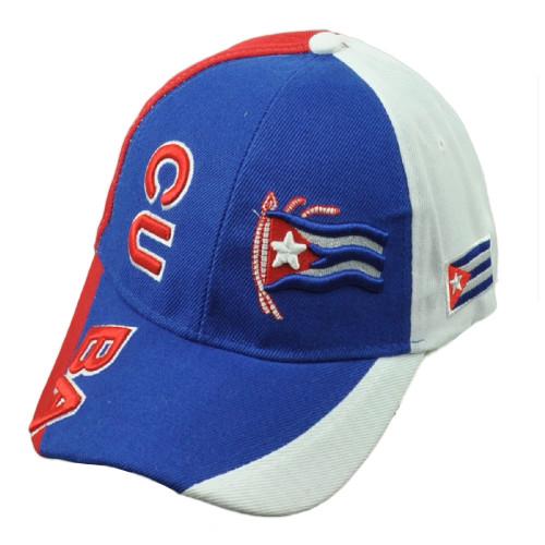 Cuba Cuban Flag Island Caribbean Island Royal Hat Cap Adjustable Curved Bill