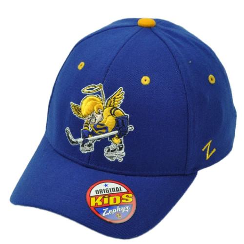 46650b9c192 Junior Hockey League Spruce Grove Saints Zephyr Flex Fit Youth Kids Blue Hat  Cap