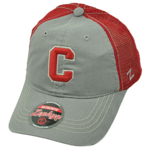 cheap for discount 901ff 0bcfc NCAA Zephyr Cornell Big Red Mesh Gray Red Hat Cap Snapback Curved Bill  Trucker