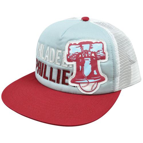 MLB American Needle Felt Applique Snapback Mesh Hat Cap Philadelphia Phillies