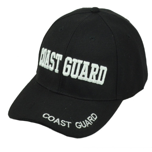 U.S United States Coast Guard Armed Forces Military Black Adjustable Hat Cap