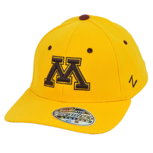 NCAA Zephyr Minnesota Golden Gopher Flex Fit Youth Kids Curved Bill Hat Cap