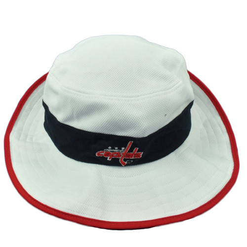 NHL Zephyr Washington Capitals White Bucket Hat Size Small Medium Chin Strap