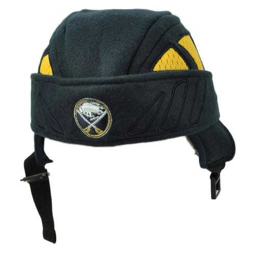 NHL Zephyr Buffalo Sabres Helmet Knit Beanie Navy Blue Adjustable Chin Strap
