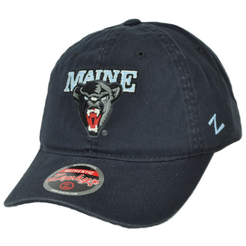 NCAA Zephyr Maine Black Bears Navy Blue Hat Cap Curved Bill Relaxed Adjustable