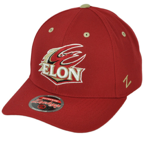 NCAA Zephyr Elon Phoenix Red Curved Bill Adjustable Hat Cap Semi Constructed