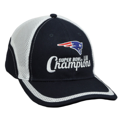 NFL Super Bowl LIII Champions New England Patriots Jersey Mesh Navy Hat Cap Adjs