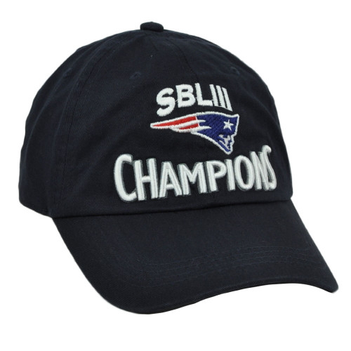NFL SBLIII Champions New England Patriots Super Bowl Champions Relaxed Navy
