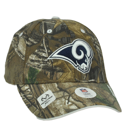 NFL St Louis Rams Realtree Camouflage Camo Curved Bill Hat Cap Adjustable