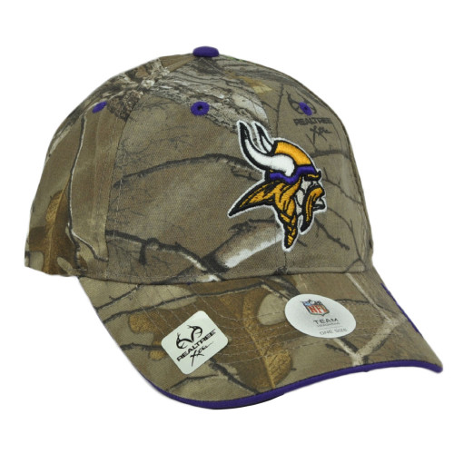 NFL Minnesota Vikings Realtree Camouflage Camo Curved Bill Hat Cap Adjustable