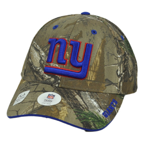 NFL New York Giants Realtree Camouflage Camo Curved Bill Hat Cap Adjustable