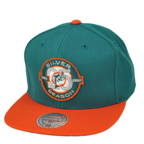 NFL Mitchell & Ness Miami Dolphins Turquoise 541VZ Snapback Flat Bill Hat Cap