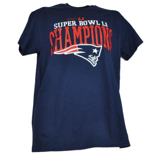 NFL New England Patriots Super Bowl LI Champions Tshirt Tee Mens Adult Crew Neck