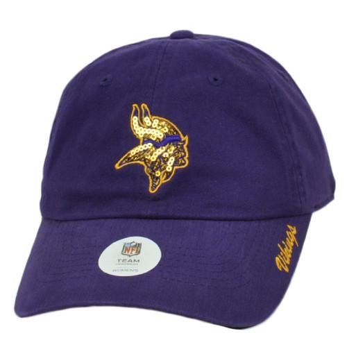 NFL Minnesota Vikings Womens Purple Slouch Relaxed Ladies Hat Cap Adjustable