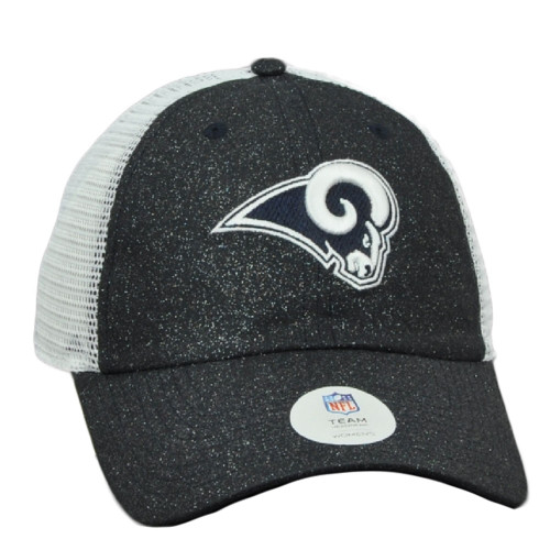 NFL Los Angeles Rams Glitter Front Womens Ladies Hat Cap Relaxed Mesh Snapback