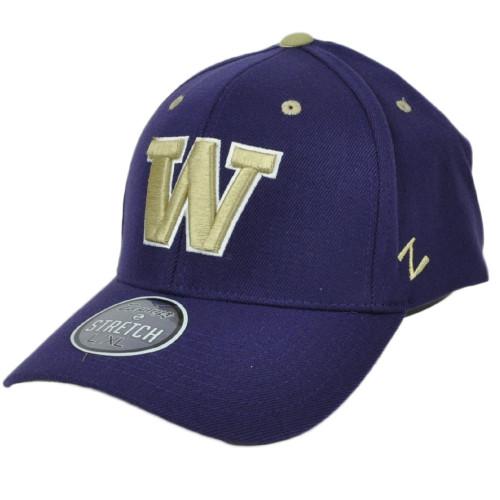NCAA Zephyr Washington Huskies Flex Fit Youth Kids Purple Hat Cap Curved Bill