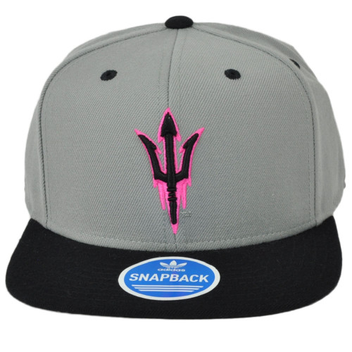 NCAA Adidas Arizona State Sun Devils NK56Z Neon Logo Flat Bill Snapback Hat Cap
