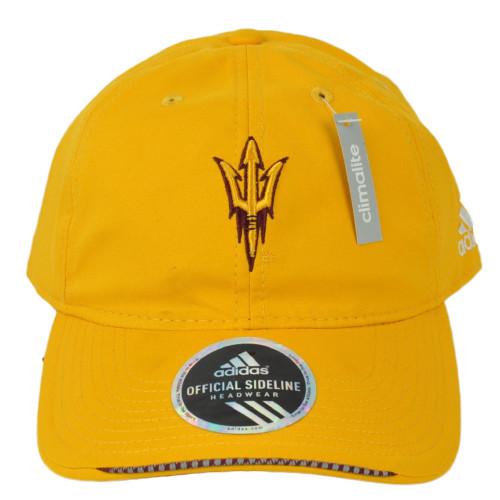 NCAA Adidas Arizona State Sun Devils QA78Z Yellow Hat Cap Adjustable Relaxed