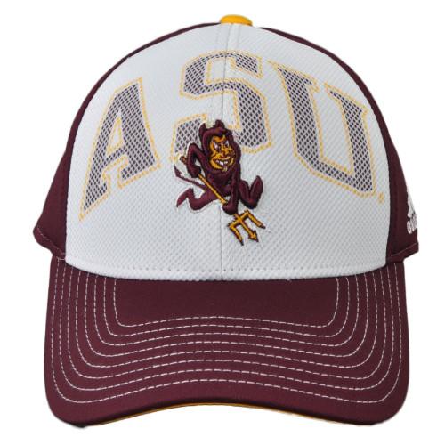 NCAA Adidas Arizona State Sun Devils VI96Z Structured Snapback Hat Cap 2 Tone
