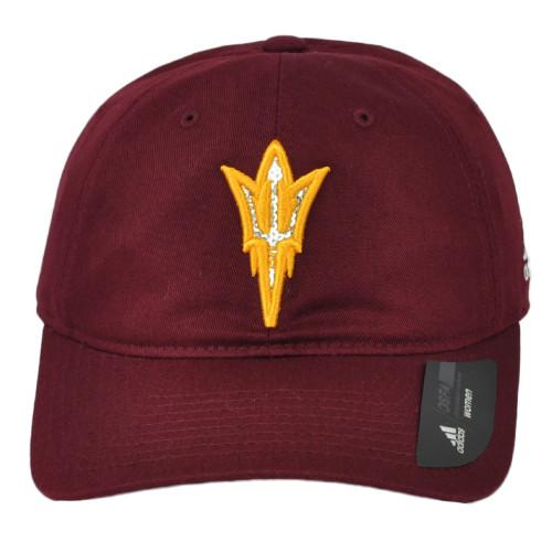 NCAA Adidas Arizona State Sun Devils QB44Q Relaxed Burgundy Hat Cap Clip Buckle