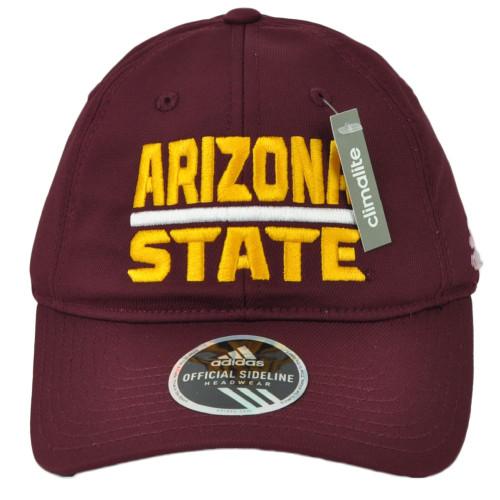 NCAA Adidas Arizona State Sun Devils EW35Z Adjustable Slouch Hat Cap Burgundy