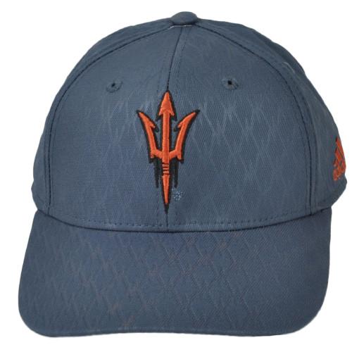 NCAA Adidas Arizona State Sun Devils VR68Z Structures Snapback Hat Cap Gray