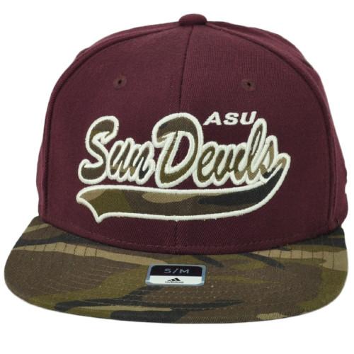 NCAA Adidas Arizona State Sun Devils M780Z Flex Fit Small Medium Hat Cap Camo