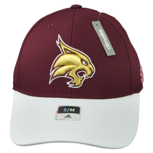 NCAA Adidas Texas State Bobcats M540Z Structured Flex Fit Small Medium Hat Cap