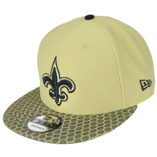 New Era 9Fifty 950 New Orleans Saints NFL17 Sideline Snapback Hat Cap Gold