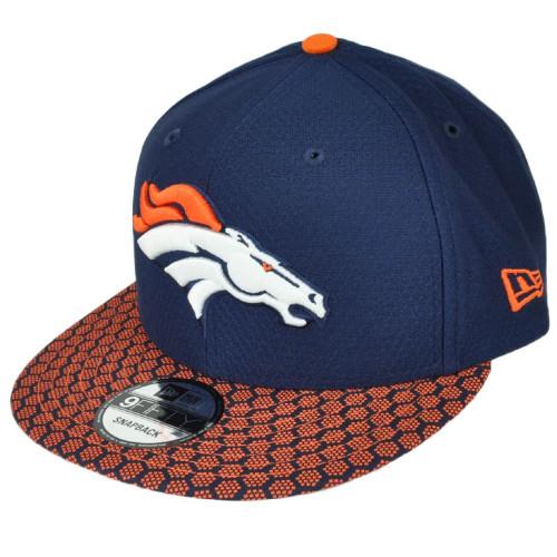 New Era 9Fifty 950 Denver Broncos NFL17 Sideline Snapback Hat Cap Blue Orange