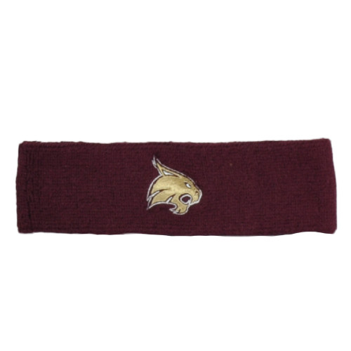 NCAA Adidas Texas State Bobcats H353Z Headband Knit Sweat Band Gym Burgundy