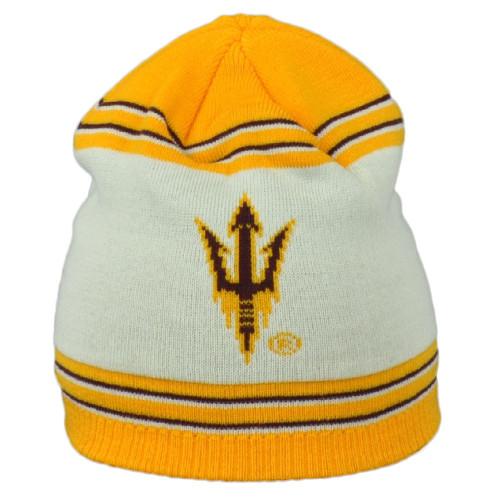 NCAA Adidas Arizona State Sun Devils KX17Z Yellow Cuffless Knit Beanie Hat Toque
