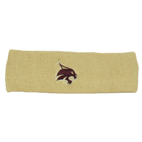 NCAA Adidas Texas State Bobcats H353Z Headband Knit Sweat Band Gym Sports Beige