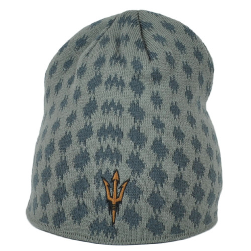 NCAA Adidas Arizona State Sun Devils KU49Z Gray Cuffless Knit Beanie Hat Toque