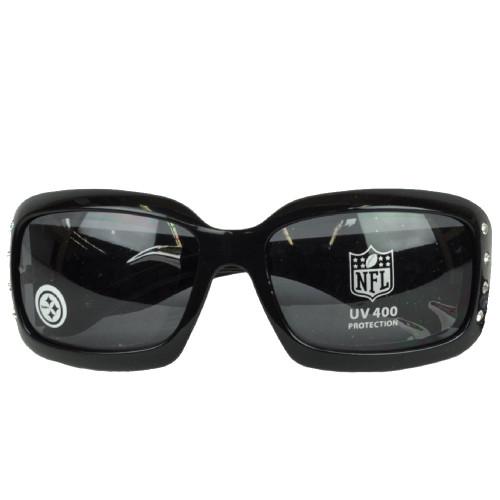 NFL Pittsburgh Steelers Black Sun Glasses Lenses Accessories UV 400 Womens Blitz
