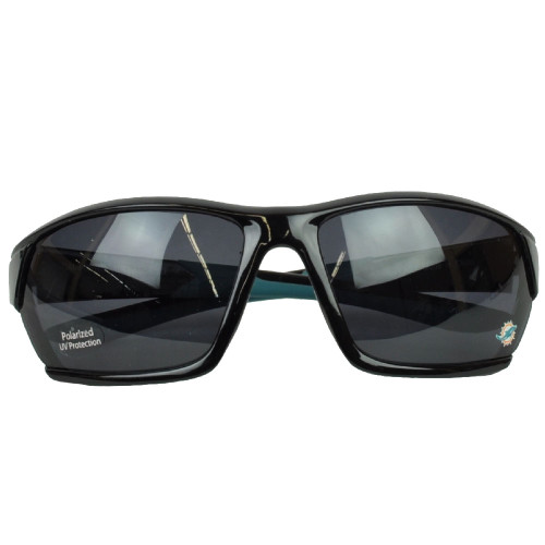 NFL Miami Dolphins Black Sun Glasses Sport Lenses Accessories Mens Sun Shade