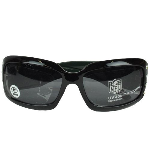 NFL Green Bay Packers Black Sun Glasses Lenses Accessories UV 400 Womens Blitz