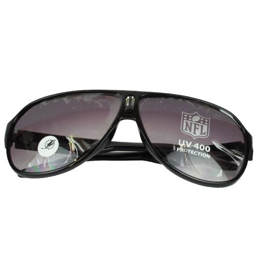 NFL Miami Dolphins Black Sun Glasses Sport Lenses Mens Accessories Aviator