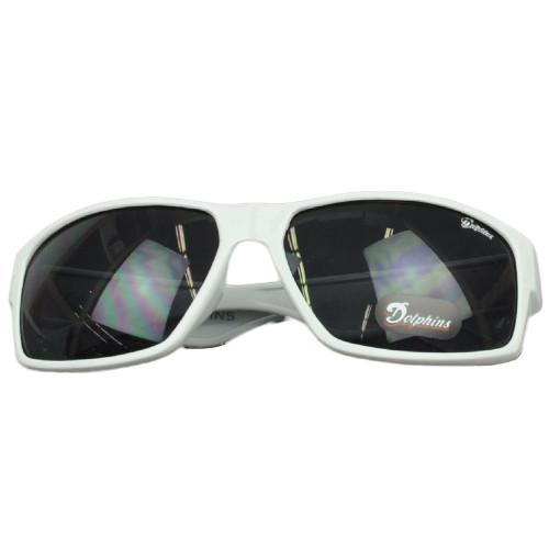 NFL Miami Dolphins White Sun Glasses Sport Lenses Gradient Accessories Mens