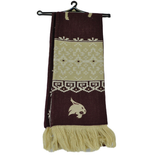 NCAA Adidas Texas State Bobcats S636W Fair Isle Scarf Burgundy Fashion Winter