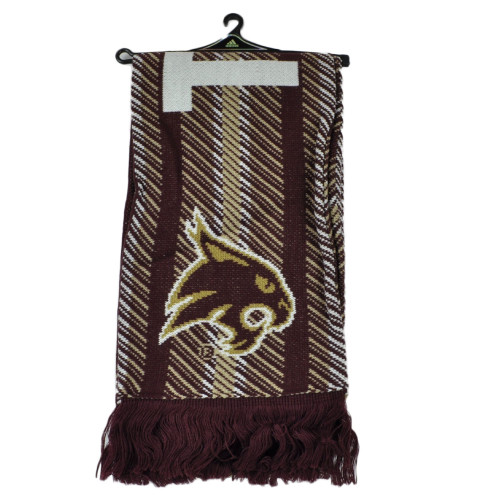 NCAA Adidas Texas State Bobcats S639Z Jacquard Scarf Burgundy Fashion Winter